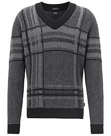 BOSS Men's V-Neck Knit Sweater