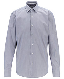 BOSS Men's Regular/Classic Fit Cotton Poplin Shirt