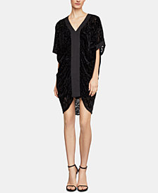 BCBGMAXAZRIA Burnout-Velvet Shift Dress