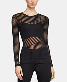 BCBGMAXAZRIA Veira Long-Sleeved Striped Top