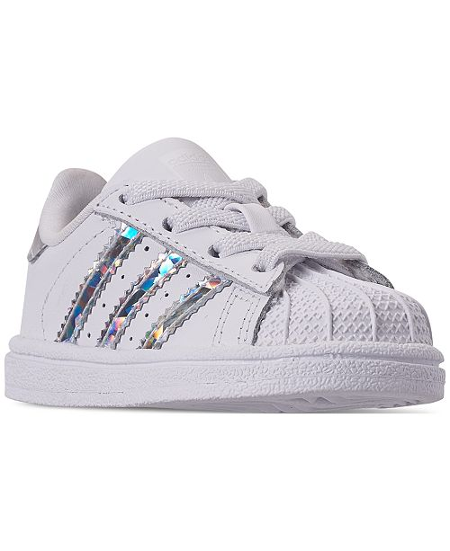 adidas Toddler Girls' Originals Superstar Sneakers from
