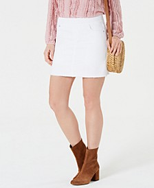 Frayed Pull-On Denim Skort, Created for Macy's