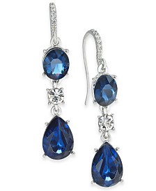 Charter Club Crystal Triple Drop Earrings, Created for Macy's
