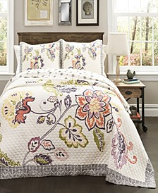 Aster 3-Pc Set Full/Queen Quilt Set
