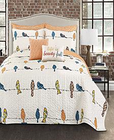Rowley Birds 7-Pc Set Full/Queen Quilt Set
