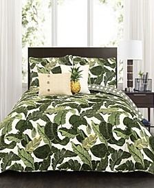 Tropical Paradise 5-Pc Set Full/Queen Quilt Set