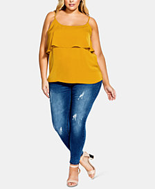 City Chic Trendy Plus Size Tiered Camisole