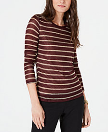 MICHAEL Michael Kors Metallic-Stripe Sweater