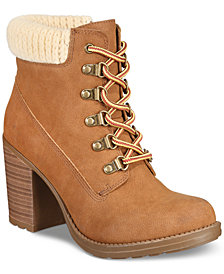 Esprit Hero Memory Foam Block-Heel Booties