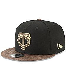 New Era Minnesota Twins Gold Snake 9FIFTY Snapback Cap