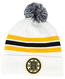 Authentic NHL Headwear Boston Bruins Alternate Jersey Cuffed Pom Knit Hat