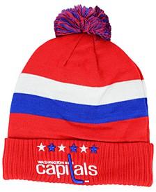 Washington Capitals Alternate Jersey Cuffed Pom Knit Hat