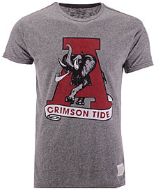 Retro Brand Men's Alabama Crimson Tide Retro Logo Tri-blend T-Shirt