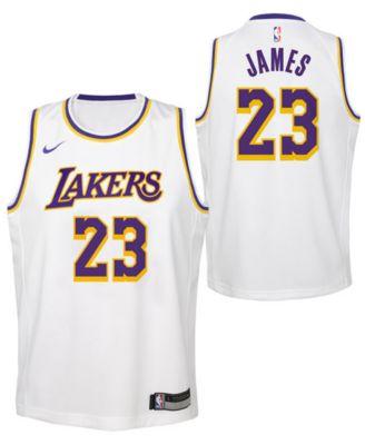 info for 32db0 55780 LeBron James Los Angeles Lakers Association Swingman Jersey, Big Boys (8-20)