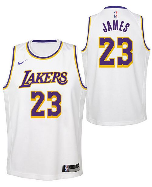 985593f71b8 Nike LeBron James Los Angeles Lakers Association Swingman Jersey ...