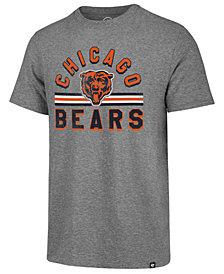 '47 Brand Men's Chicago Bears Team Stripe Match Tri-blend T-Shirt