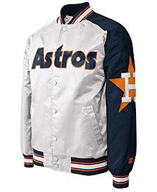 G-III Sports Men's Houston Astros Dugout Starter Satin Jacket II