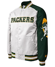 G-III Sports Men's Green Bay Packers Starter Dugout Championship Satin Jacket