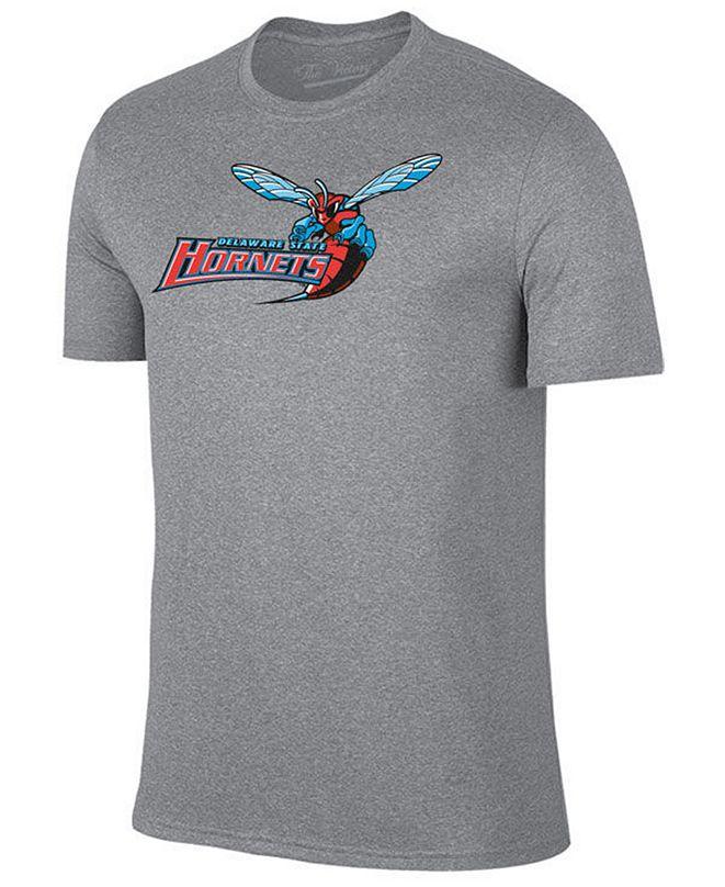 New Agenda Men's Delaware State Hornets Big Logo T-Shirt