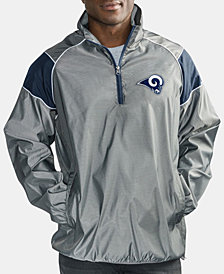 G-III Sports Men's Los Angeles Rams Fade Player Lightweight Pullover Jacket