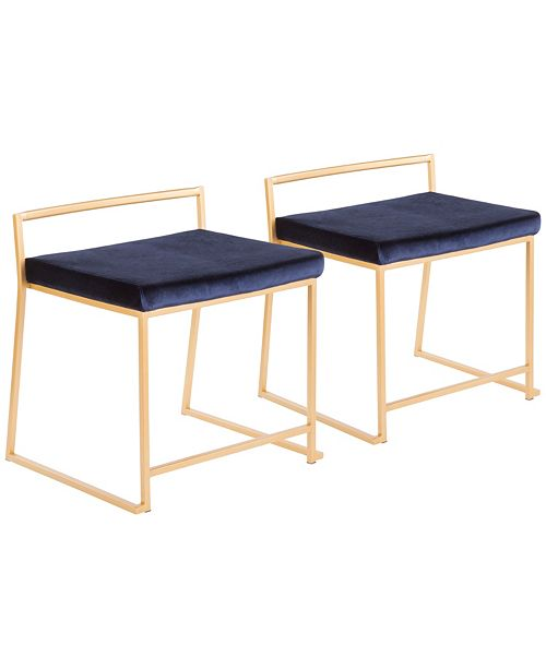 Stupendous Fuji Stackable Dining Chair In Gold Metal And Velvet Set Of 2 Bralicious Painted Fabric Chair Ideas Braliciousco