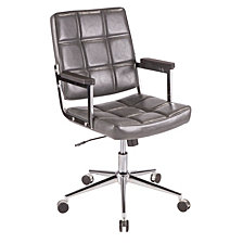 Lumisource Bureau Office Chair with Metal and Faux Leather