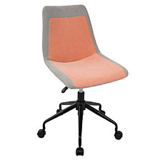 Lumisource Orzo Height Adjustable Task Chair in with Denim Fabric