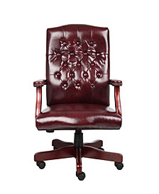 Boss Office Products Traditional High-back Executive Swivel Chair