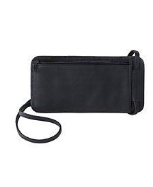 Royce Hanging Passport Travel Document Holder in Leather