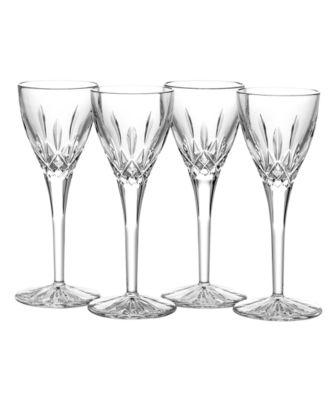 Stemware, Lismore Cordial Glasses, Set of 4
