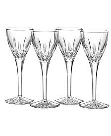 Waterford Stemware, Lismore Cordial Glasses, Set of 4