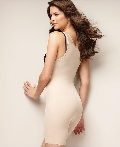 32eb256303964 Naomi   Nicole Firm Control Unbelievable Comfort Long Leg Open Bust Body  Shaper 7071 ...