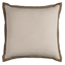 """Rizzy Home Solid 22"""" x 22"""" Pillow Cover"""