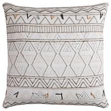 "Rizzy Home 22"" x 22"" Tribal Global Traveller Pillow Cover"