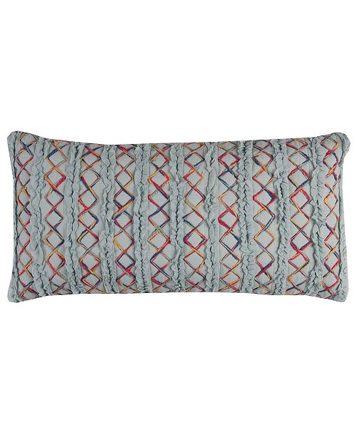 """Rizzy Home 14"""" x 26"""" Textured Stripe Pillow Cover"""