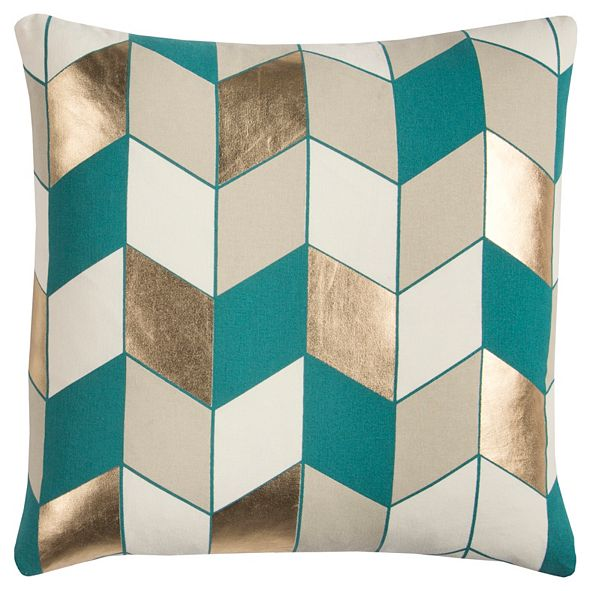 "Rizzy Home Rachel Kate 20"" x 20"" Geometrical Design Pillow Cover"