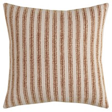"""Rizzy Home 20"""" x 20"""" Ticking Stripe Pillow Cover"""