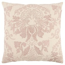 "20"" x 20"" Floral Damask Pillow Cover"