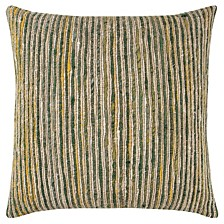 "22"" x 22"" Textured Stripe Pillow Cover"