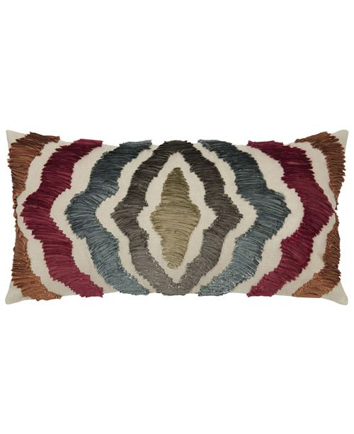 """Rizzy Home 11"""" x 21"""" Radiating Lines Pillow Cover"""