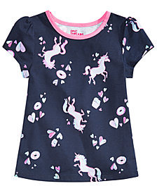 Epic Threads Little Girls Unicorn & Donuts Printed T-Shirt, Created for Macy's