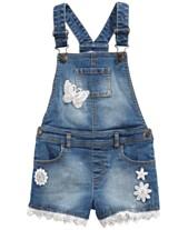 9bc5f8b16cdc Epic Threads Little Girls Embroidered Denim Shortalls