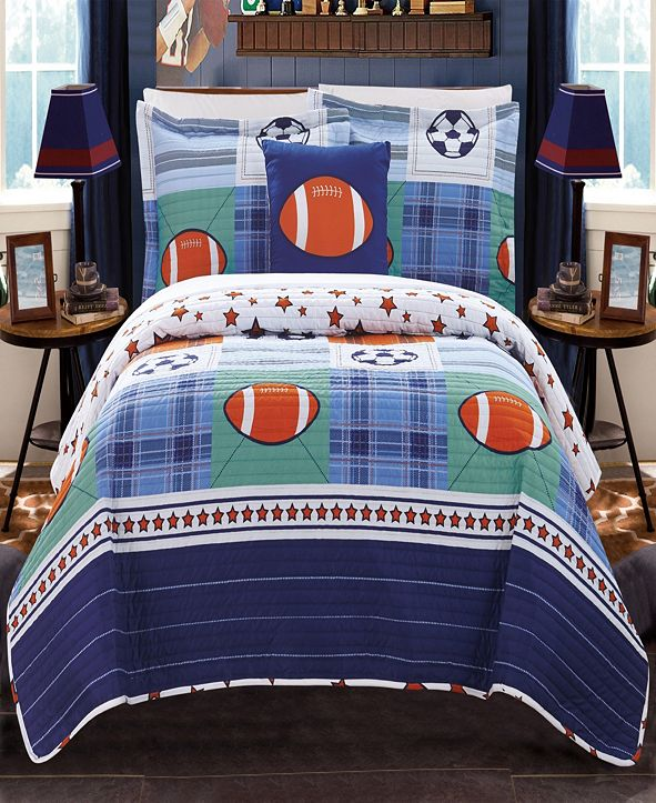 Chic Home Vintage 4 Piece Full Quilt Set