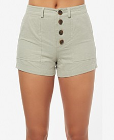Juniors' Morrison Button-Fly Shorts