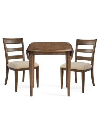 Lilah Dining Furniture, 3-Pc. Set (Table & 2 Wood Back Side Chairs)