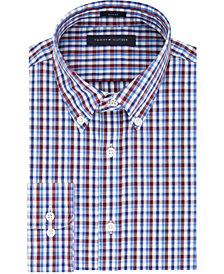 Tommy Hilfiger Men's Slim-Fit Blue Check Dress Shirt