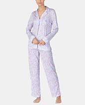 5fe9106c8554 Lauren Ralph Lauren Notch Collar Knit Pajama Set