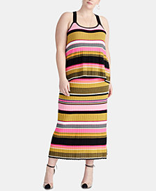 RACHEL Rachel Roy Trendy Plus Size Kennedy Striped Top