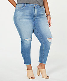 Jessica Simpson Trendy Plus Size Ripped Skinny Jeans