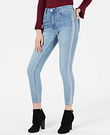 American Rag Juniors' Side-Stripe Skinny Jeans, Created for Macy's